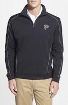 Cutter & Buck Men's 'Atlanta Falcons - Edge' Drytec Moisture Wicking Half Zip Pullover