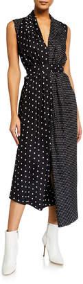 ADAM by Adam Lippes Asymmetric Polka-Dotted Dress