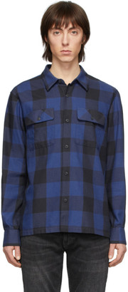 Nudie Jeans Blue Block Check Sten Shirt