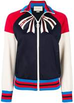 Gucci bow detail zip front jacket
