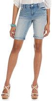 Code Bleu Soleil Curvy Knit Denim Bermuda Shorts