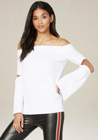 Bebe Split Sleeve Top