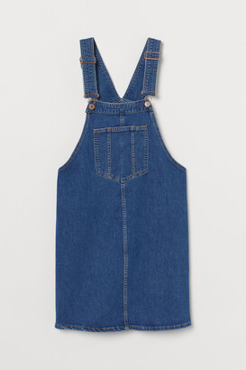 H&M MAMA Denim Overall Dress - Blue