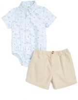 Little Me Infant Boy's Dino Bodysuit & Shorts Set