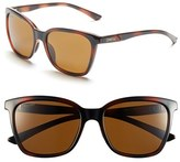 Smith Optics Women's 'Colette' 55Mm Polarized Sunglasses - Tortoise/ Polar Brown