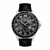 Croton Imperial Mens Black Strap Watch-Ci331094ssbk