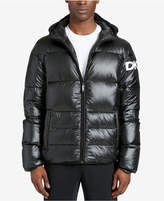 DKNY Men's Mid-Length Hooded Puffer Jacket