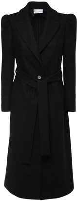 RED Valentino Belted Wool Blend Long Coat
