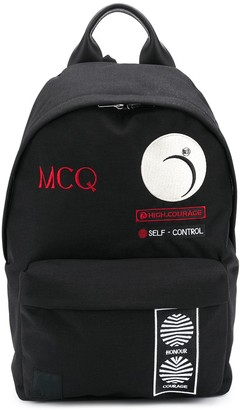 McQ Embroidered Patch Backpack