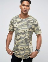 ONLY & SONS Crew Neck T-Shirt In Camo