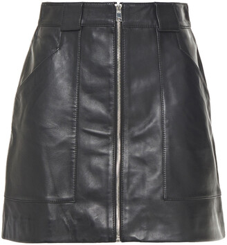 Maje Leather Mini Skirt