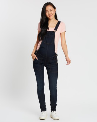 LOVE2WAIT - Women's Blue Jumpsuits - Salopette Denim Overalls - Size One Size, 11 at The Iconic