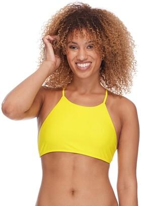 Body Glove Women's Elena High Neck Crop Bikini Top Swimsuit