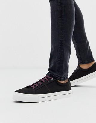 Ted Baker esheron canvas sneakers in black