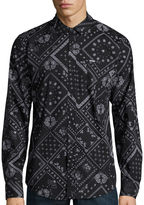 Zoo York Patchwork Allover Long-Sleeve Woven Shirt