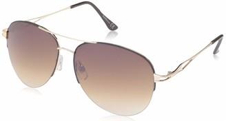 Laundry by Design Women's Ld280 Gldbn Non-Polarized Iridium Aviator Sunglasses