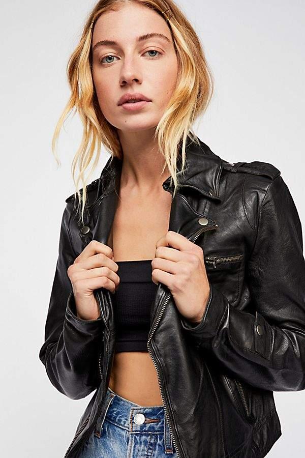 Jakett Josey Moto Leather Jacket