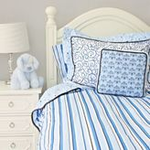 Caden Lane Luxe Full/Queen Duvet Cover in Blue