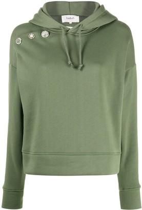 BA&SH Didi oversized jewelled-button hoodie