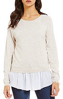Copper Key Knit Ruffle Shirttail Hem Pullover