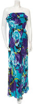 Trina Turk Silk Printed Maxi Dress