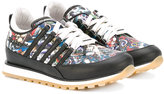 DSQUARED2 tattoo print trainers - kids - Leather/rubber - 33
