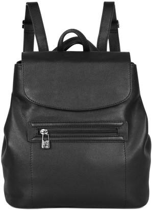 Women's Karla Hanson RFID-Blocking Dorothy Leather Crossbody Backpack