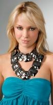 tuleste market Large Hammered Squares Necklace