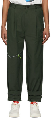 Ader Error Khaki T-914 Track Trousers