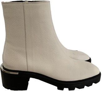 Jimmy Choo White Leather Boots