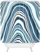 Deny Designs Jacqueline Maldonado Marble Blue Shower Curtain