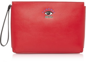 Kenzo Cut Out Leather Gusset Pouch