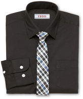 Izod Shirt and Clip-On Tie Set - Boys 8-20 and Husky