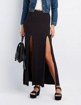 Charlotte Russe Double Slit Maxi Skirt