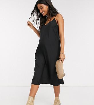 ASOS DESIGN Maternity midi cami slip dress in black