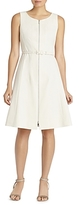 Lafayette 148 New York Coralie Belted Zip-Front Dress