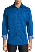 Robert Graham Cullen Jacquard Long-Sleeve Shirt, Navy