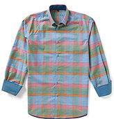 Visconti Large Plaid Long-Sleeve Woven Shirt