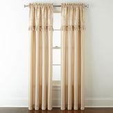 Royal Velvet Encore Leaf Embroidery Rod-Pocket Curtain Panel
