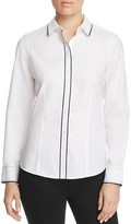 Foxcroft Brooke Contrast Trim Non-Iron Shirt