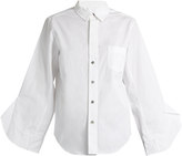 Toga Ruffle-trimmed long-sleeved cotton shirt