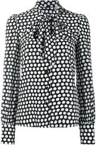 Saint Laurent polka dot pussybow shirt - women - Silk - 40