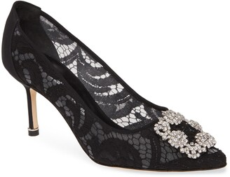 Manolo Blahnik Hangisi Pointed Toe Pump