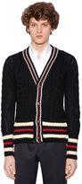 Thom Browne Wool Knit Cardigan W/ Stripes