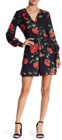 Alexia Admor Long Sleeve Rose Print Romper