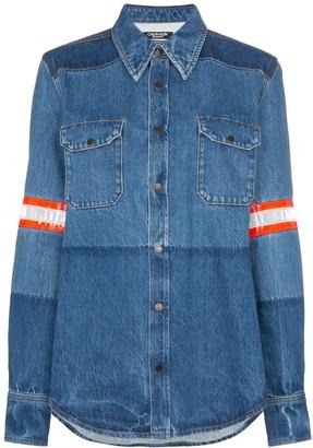 Calvin Klein Fireman Band Bleached Denim Shirt