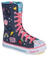 Skechers Girl's Twinkle Toes Shuffles Ultra High Top Sneaker
