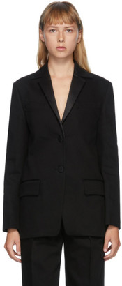 Alexander Wang Black Single Breasted Tuxedo Blazer