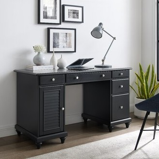 Three Posts Hunterstown Desk Color: Black