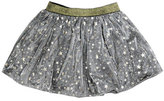 Imoga Helen Metallic Mesh Star Skirt, Gray, Size 8-14